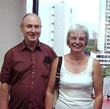 The photograph of John and Anne Darwin buying property in Panama which surfaced on the internet.